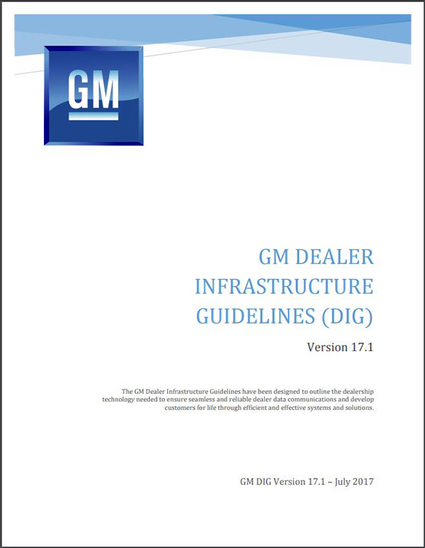 New GM Dealer Infrastructure Guidelines Adopt Good, Better, Best Format