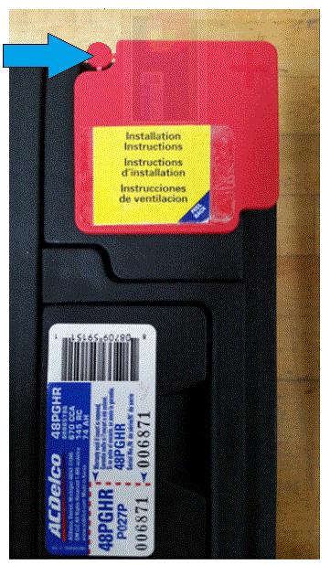 Battery Vent Plug Installation