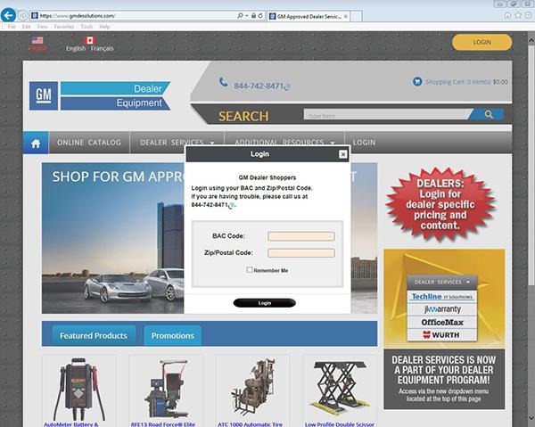 Dealer Services Now Part of Updated GM Dealer Equipment Website