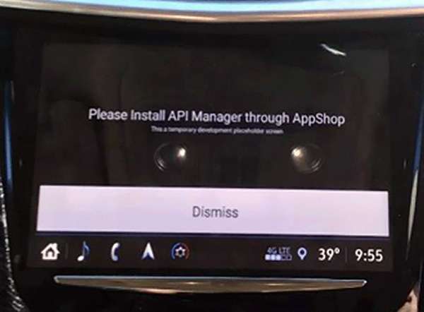 Install API Manager Message Displayed After Radio Replacement