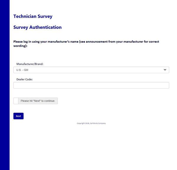 2018 Industry-wide Service Technician Satisfaction Survey Now Underway