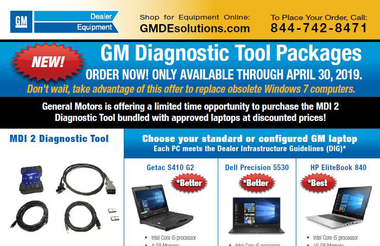 GM Diagnostic Tool Packages Bundle New Computers with the MDI 2 (U.S. Only)