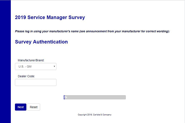 2019 Service Manager Survey Going on Now