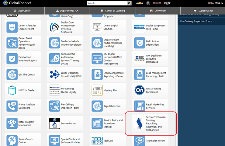 New GM Service Technical College App Provides Quick Access