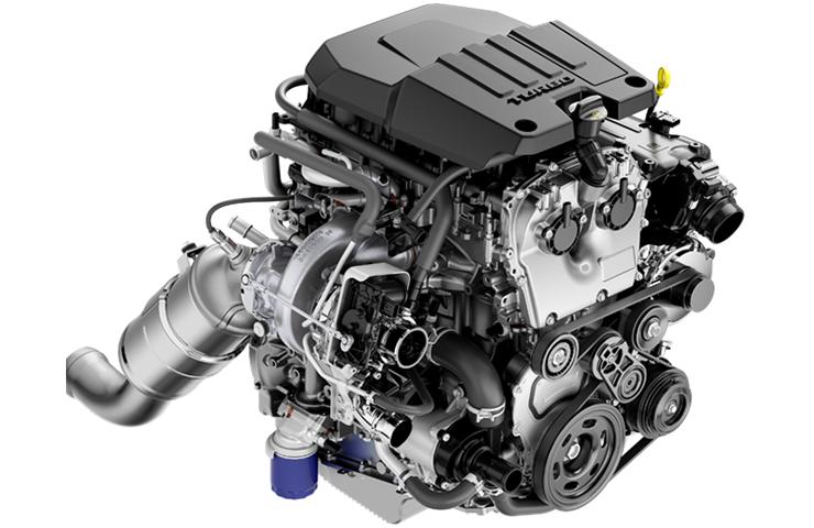 El nuevo motor de 4 cilindros 2.7L turbocargado impulsa camionetas de tamaño completo