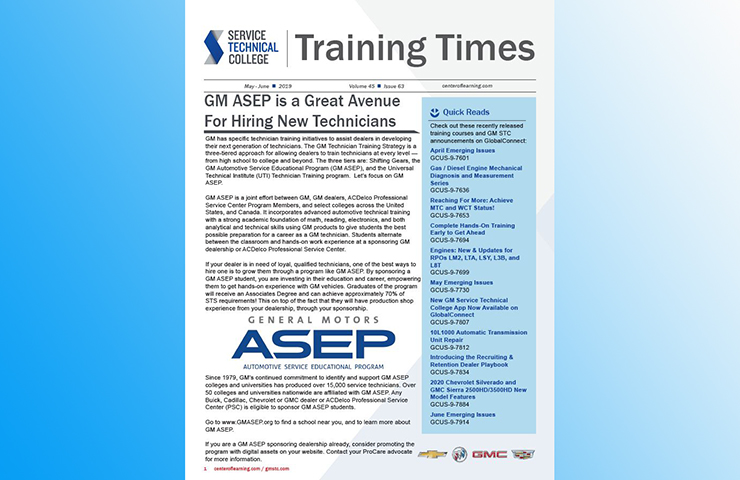 Find the Training Times Newsletter on GlobalConnect