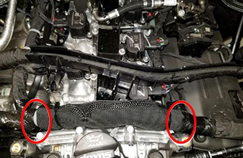 Engine Harness Contact with Underhood Components