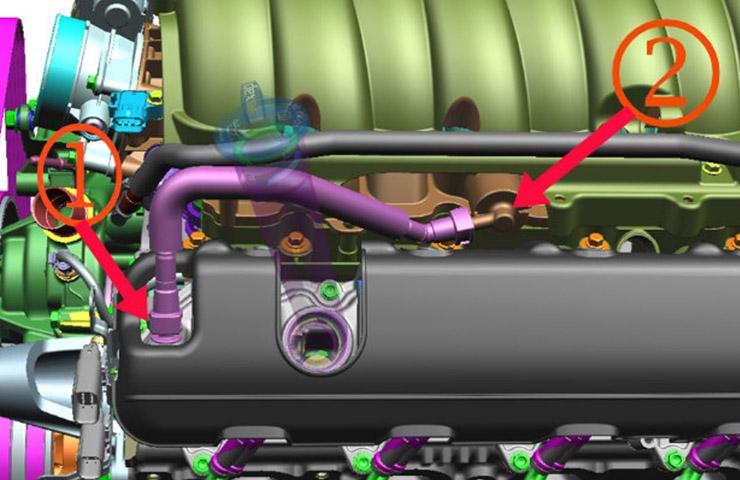 Fuga de aire del motor del tubo de PCV