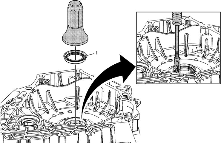 Fuga de sello de fluido de convertidor de par