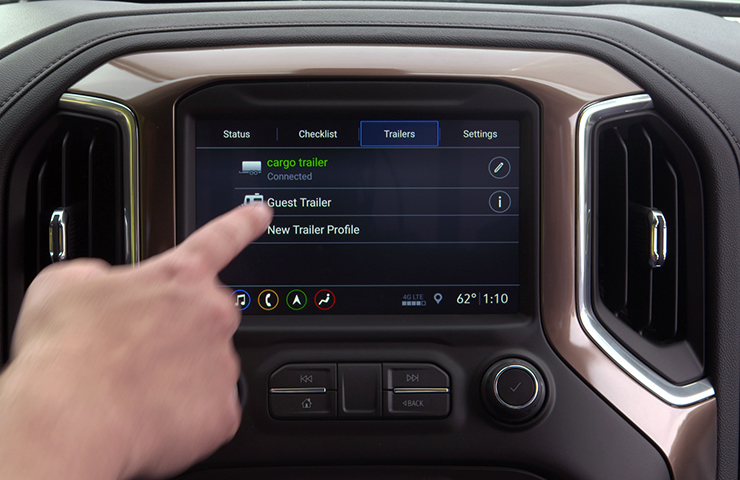 Trailering App Trailer Connection and Lighting Diagnosis Update