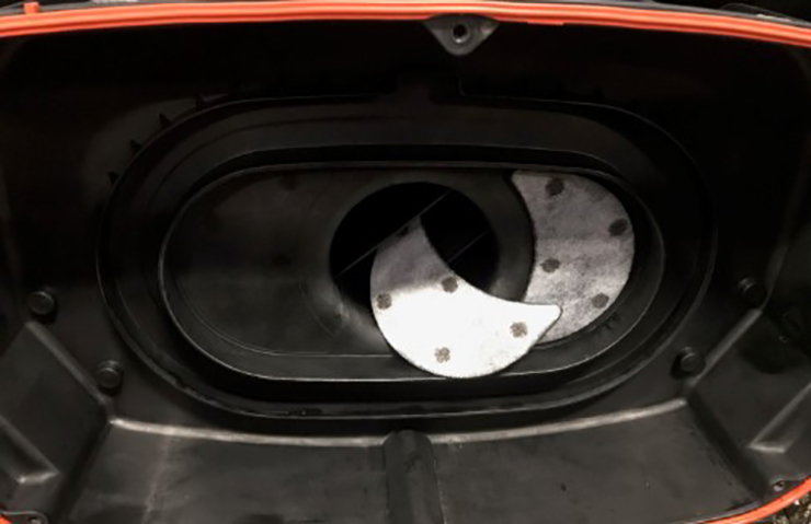 Loose Carbon Patch in Air Cleaner Housing
